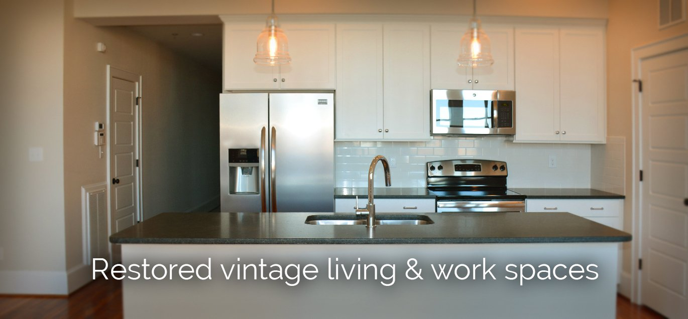 Restored vintage work and living spaces